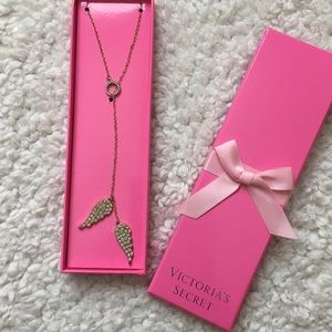 Angel Wing Gold & Diamond Necklace